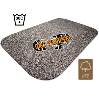 Amber Beige / Brown Dirt Stopper Door Mats