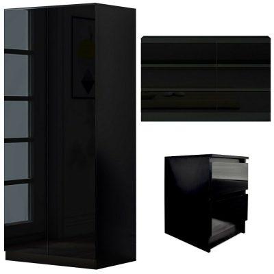 Carlton 3pc Set Black Gloss