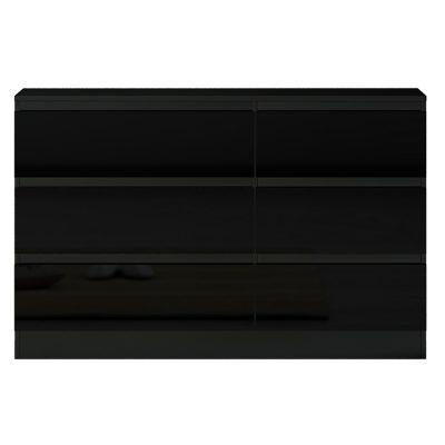 Carlton 6 Drawer Black Gloss