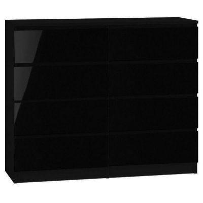 Carlton 8 Drawer Black Gloss