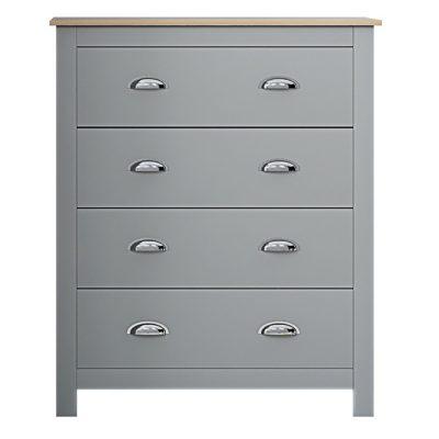DG Westbury 4 Drawer Chest Grey