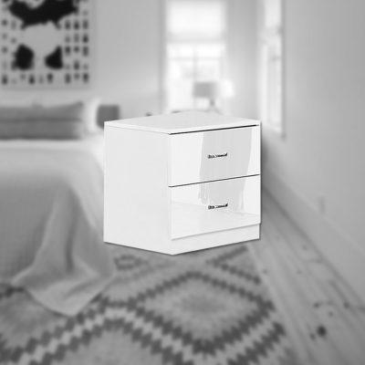 Maldon Bedside - White x 2