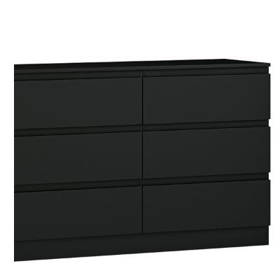 Carlton 6 drawer chest black matt