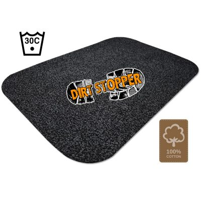 Dirt Stopper Large Barrier Door Mat Black
