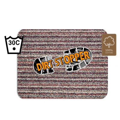 Red Striped Door Mat