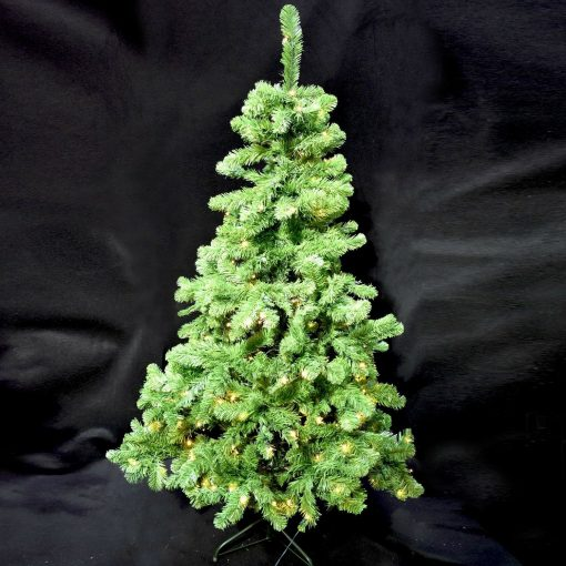 6ft (180cm) Pre-lit Christmas Tree with 120 white LED lights. Easy assembly.