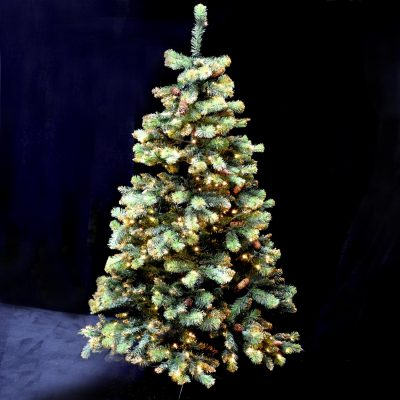 6.5FT PRELIT TREE GOLD GLITTER
