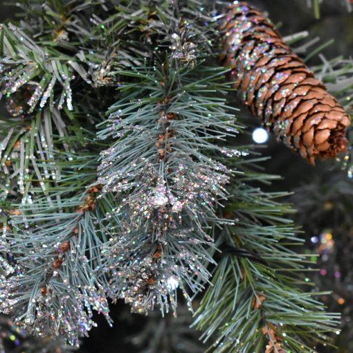 6.5FT PRELIT TREE SILVER GLITTER