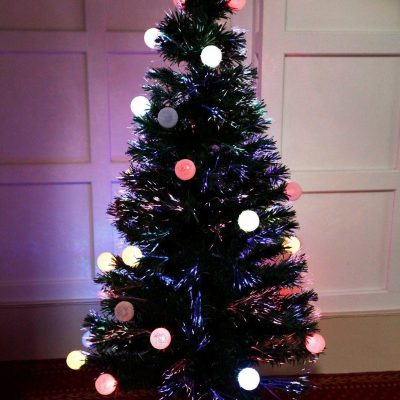 5FT FIBRE OPTIC TREE COLOURED LED BALLS