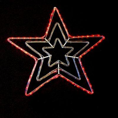 "28""RED/ GREEN FLASHING STAR"