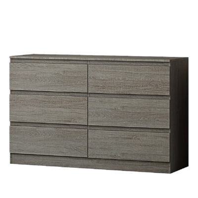 Carlton 6 Drawer Grey Oak