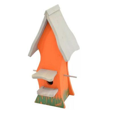 Bird Nesting Box Tweetie Pad - Orange & White