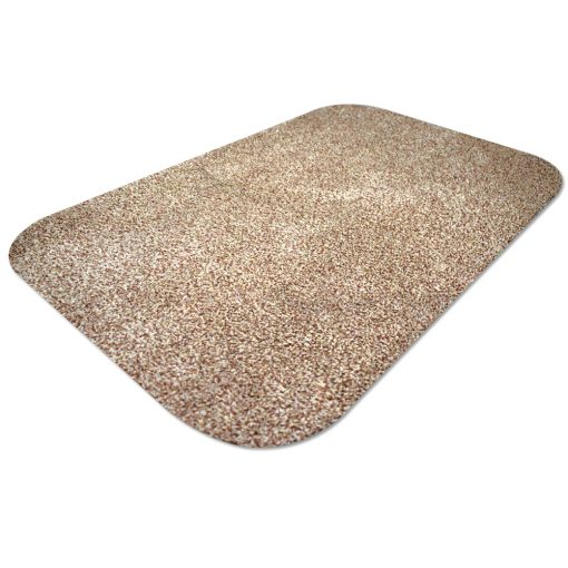 Original Dirt Stopper Large Magic Barrier Door Mats & RunnersMoonshine – Beige / Golden SandUltra Absorbent | 100% Cotton | Wash at 30° | Tumble Dry Low | Non-slip Latex BackSay goodbye to muddy floors, hello to clean carpets with the original Dirt Stopper super absorbent barrier door mats and runners.Stopping dirt in its tracks, these popular door mats are made from 100% cotton to instantly trap up to 95% of dust, dirt and moisture at the door. An anti-slip latex backing keeps your door mat in place and preventing trips and falls.Thanks to the super absorbent natural cotton fibres, these attractive doormats are more effective at trapping dirt and moisture than cheap man made blends, polypropylene or coir door mats.These handy indoor doormats are machine washable 30°C and can tumble dry on a low setting, keeping your door mat looking great and retaining its high absorbency.Essential for any doorway leading outside, the Dirt Stopper magic door mats are perfect for any areas with high footfall.Prevents muddy paws & footprintsFantastic for front doors, kitchens & conservatoriesGreat for gardeners & back doorsPerfect for homes with children or petsIdeal for caravans, motorhomes & campingMade in the UK – support British manufacturingProtects all types of floors including laminate, ceramic tiles, wooden floors & carpetWith an attractive beige / golden sands coloured pile that looks fantastic with many interior decor styles, Dirt Stopper door mats in 'Moonshine' are a firm favourite for front door mats or to protect floors at the back door. More colour options available.Size:Large 100cm x 75cm - When you want to protect a larger area Also available:Runner 150cm x 65cm - Ideal for hallways or porchesRegular 75cm x 50cm - Perfect for standard UK doorways Don't settle for cheap imitations. Only the original Dirt Stopper Door Mats & Runners will deliver the maximum absorbency to keep your home clean and fresh.