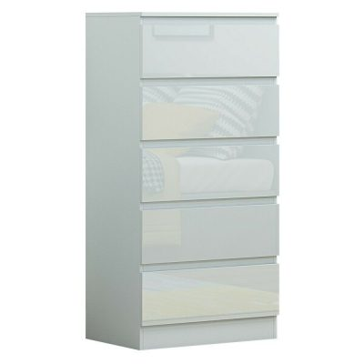 DG Carlton 5 drawer white gloss